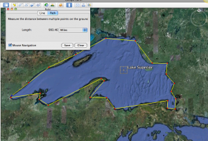 Google Earth: Lake Superior
